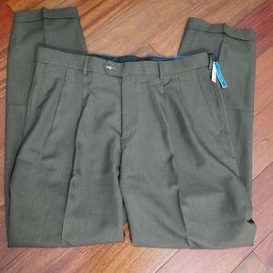 NWT Croft & Barrow Brown Dress Pants 70820-4B1
